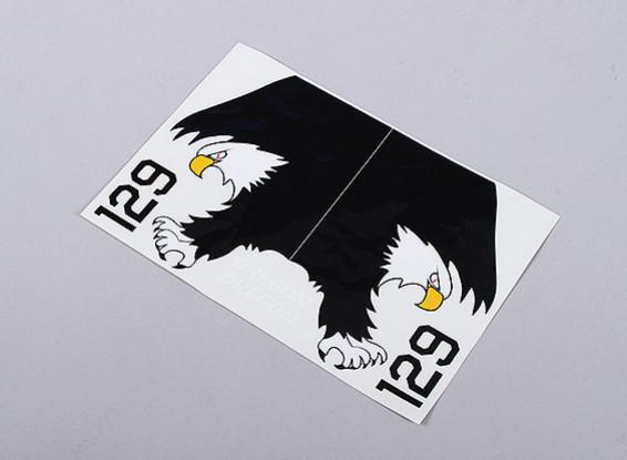 La marina de guerra de Eagle diestros y zurdos - Gran Escala auto-adhesivo