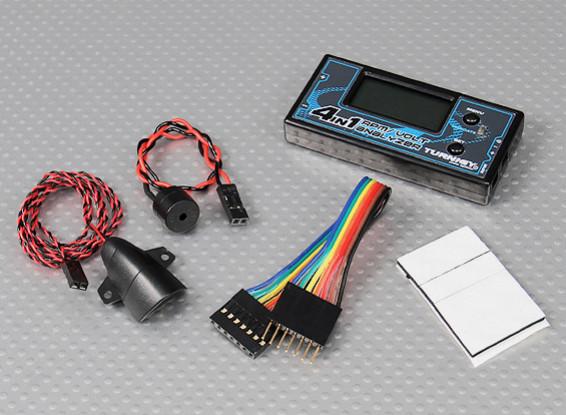 Turnigy 4-en-1 RPM / voltaje Analyzer (2 ~ 6S LiPo / LiFe)