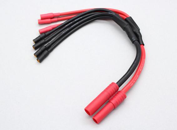 HXT 4 mm a 3,5 mm 4 x bala Multistar ESC fuerza de arranque de cable