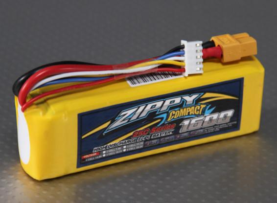 Lipo 25C Paquete ZIPPY Compacto 1600mAh 4S