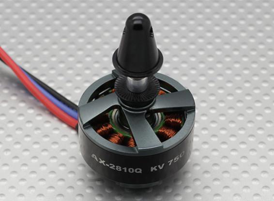 AX-2810Q-750KV sin escobillas del motor Quadcopter