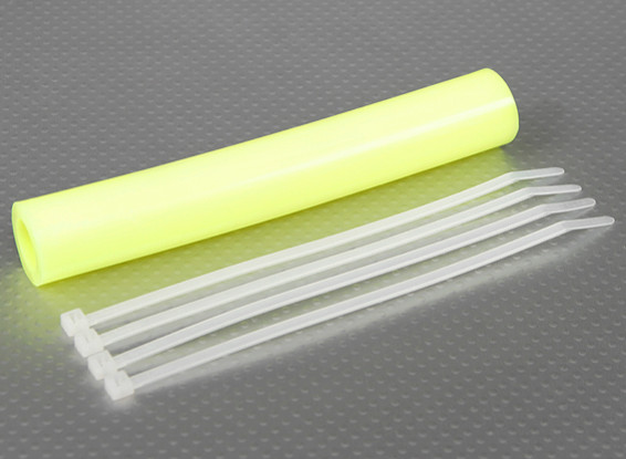 De silicona de escape acoplador de tubería 152x15mm (amarillo)
