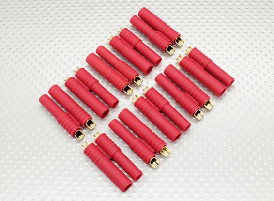 HXT 4 mm conector Oro w / Balas preinstaladas (10pcs / set)