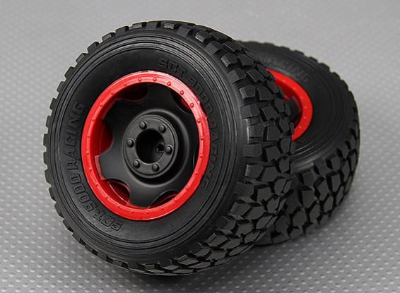 Rueda w / Neumáticos 1/10 Turnigy 4WD Short Course Truck sin escobillas (2pcs / Bolsa)