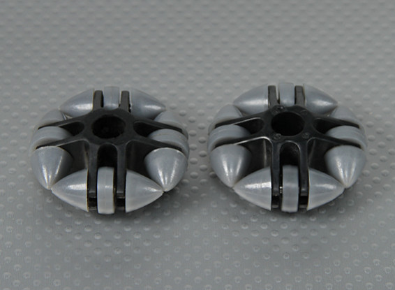 49x20mm Plástico Omni Wheel (2pcs / bag)