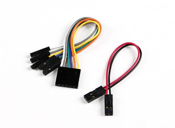 Los cables de extensión Set - Receptor Para el regulador de vuelo