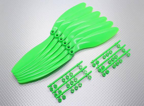 GWS EP hélice (DR-1047 254x119mm) verde (6pcs / set)