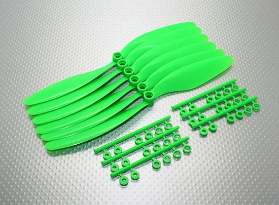 GWS EP hélice (DR-8043 203x109mm) verde (6pcs / set)