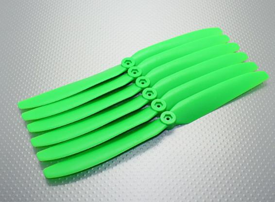 GWS EP hélice (DD-9050 229x127mm) verde (6pcs / set)