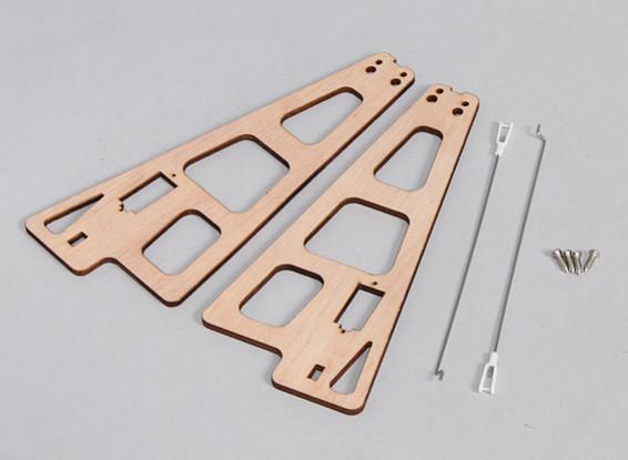 Durafly ™ Auto-G Girocóptero 821mm - Sustitución de soportes de madera w / Varillas de vinculación