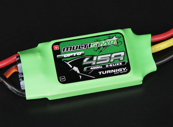 Turnigy Multistar 45 Amp del Multi-rotor sin escobillas CES 2-6S (OPTO)