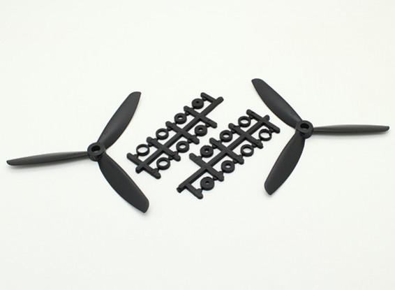 Hobbyking ™ 3 pala de la hélice 5x4.5 Negro (CW / CCW) (2pcs)