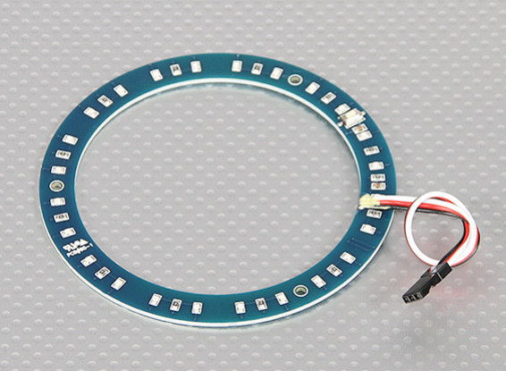 Anillo LED rojo w / 100mm 10 modos seleccionables