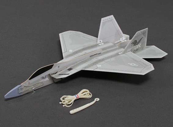 Freeflight F-22 Raptor w / lanzador de catapulta 360mm Span