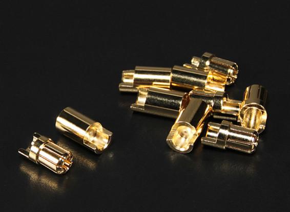 PolyMax 6.5mm conectores de oro de 5 pares (10pc)