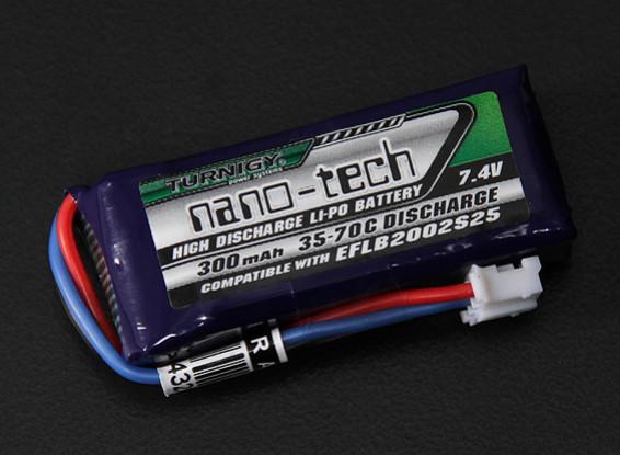 Turnigy nano-tech 300mah 2S 35 ~ 70C Lipo Pack (E-Flite EFLB2002S25 micro serie compatibles)