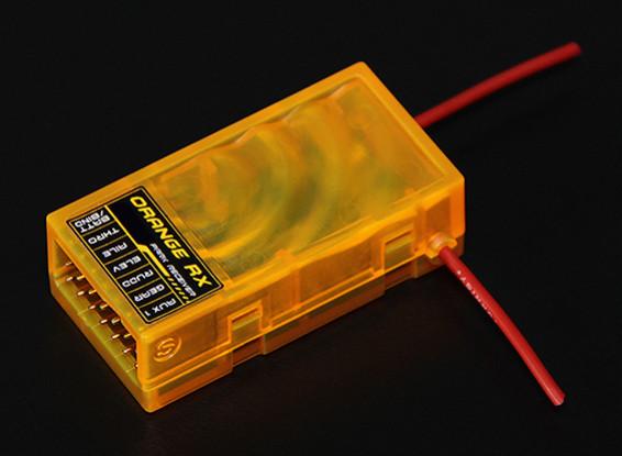 El receptor de 2,4 GHz compatible 6Ch OrangeRx R615 DSM2
