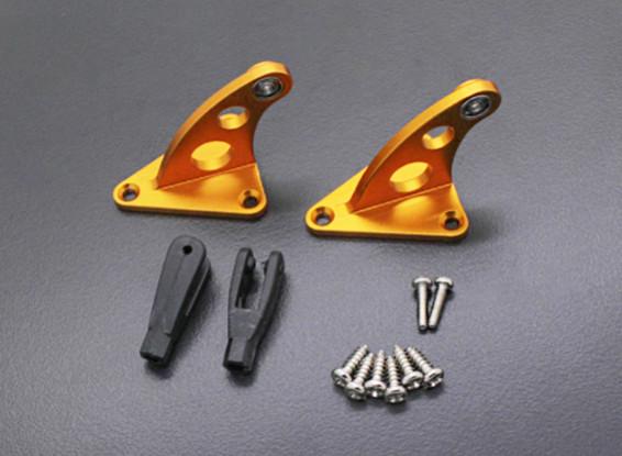 CNC de la aleación de Control de Hornos con horquilla de oro anodizado (par)