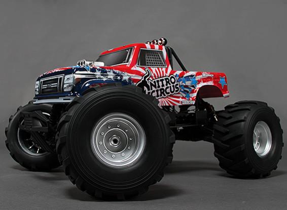 Basher Nitro Circus 1/8 Escala 4WD Truck Monster radio / 2.4Ghz w (RTR)