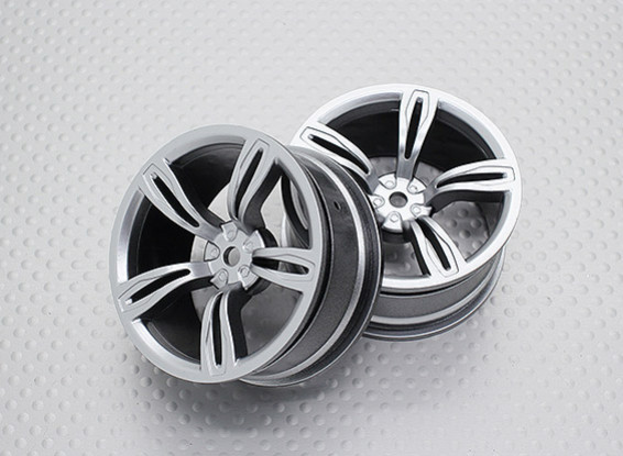 Escala 1:10 alta calidad Touring / deriva de las ruedas del coche RC de 12 mm Hex (2pc) CR-M5S