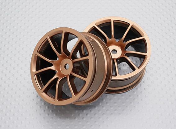 Escala 1:10 alta calidad Touring / deriva de las ruedas del coche RC de 12 mm Hex (2 piezas) CR-12CG