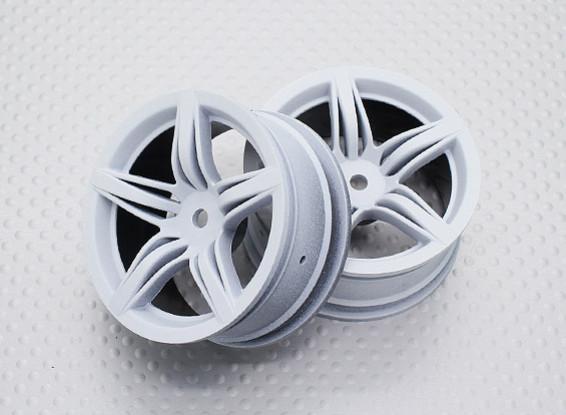 Escala 1:10 alta calidad Touring / deriva de las ruedas del coche RC de 12 mm Hex (2 piezas) CR-F12W