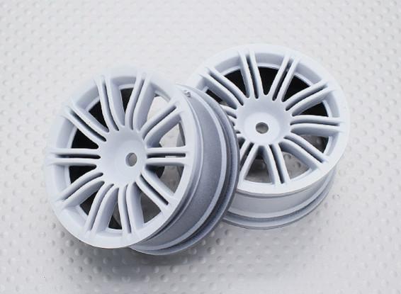 Escala 1:10 alta calidad Touring / deriva de las ruedas del coche RC de 12 mm Hex (2 piezas) CR-M3W