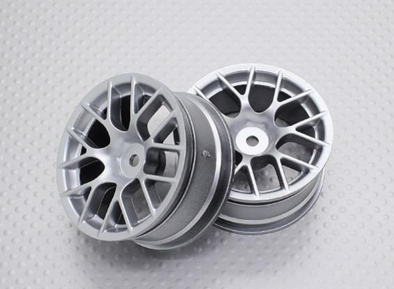 Escala 1:10 alta calidad Touring / deriva de las ruedas del coche RC de 12 mm Hex (2 piezas) CR-CHS
