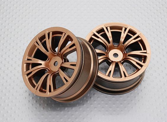 Escala 1:10 alta calidad Touring / deriva de las ruedas del coche RC de 12 mm Hex (2 piezas) CR-BRG