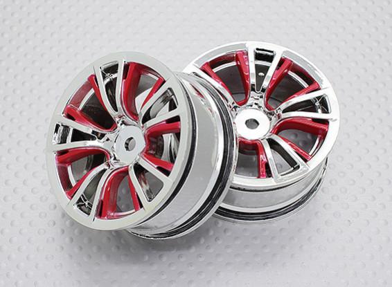 Escala 1:10 alta calidad Touring / deriva de las ruedas del coche RC de 12 mm Hex (2 piezas) CR-BRR