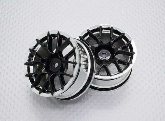 Escala 1:10 alta calidad Touring / deriva de las ruedas del coche RC de 12 mm Hex (2 piezas) CR-CHB