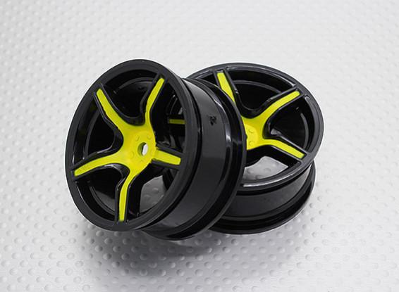 Escala 1:10 alta calidad Touring / deriva de las ruedas del coche RC de 12 mm Hex (2 piezas) CR-C63SY