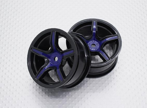 Escala 1:10 alta calidad Touring / deriva de las ruedas del coche RC de 12 mm Hex (2 piezas) CR-C63SB