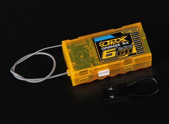 OrangeRx R620 DSM2 Compatible Receptor 2.4Ghz gama completa 6Ch w / a prueba de fallos