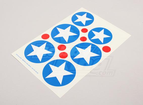 Escala de la hoja de la Fuerza Aérea Nacional insignias Decal - EE.UU. (Tipo B)