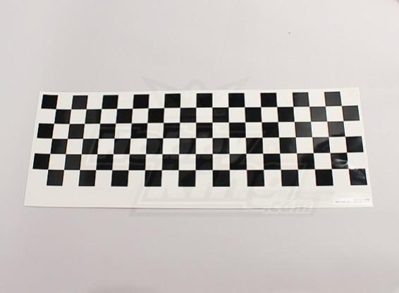 Etiqueta con el patrón Hoja Chequer Negro / Claro 590mmx180mm