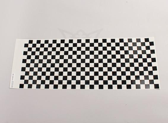 Hoja de la etiqueta pequeña Chequer patrón Negro / Claro 590mmx180mm