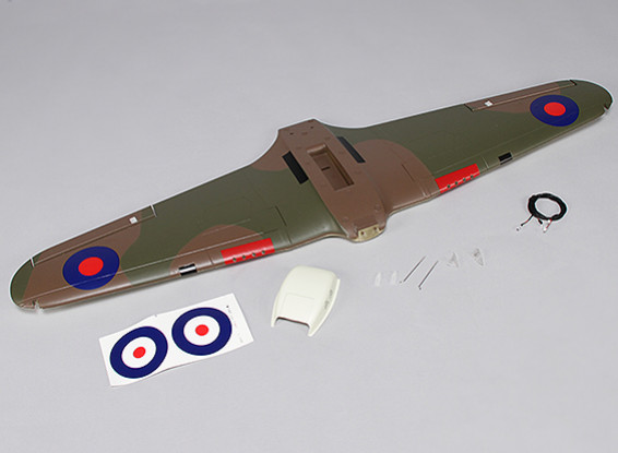 Hawker Hurricane Mk IIB 1000mm - Sustitución Ala principal