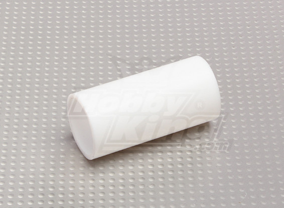 Silenciador de teflón de 25 mm / Frente tubo de carpintería no hay clips