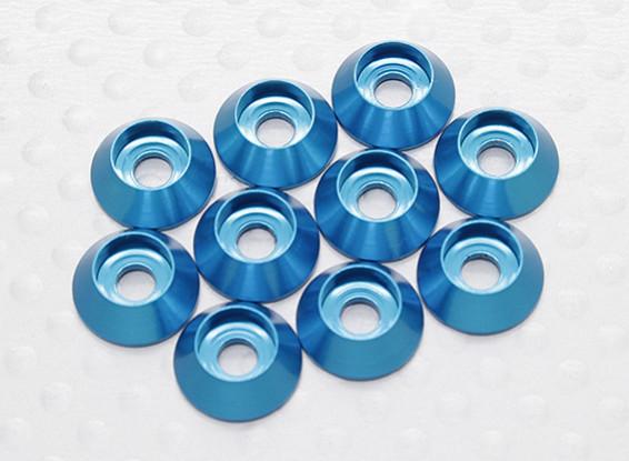 Sockethead arandela de aluminio anodizado M3 (azul) (10 piezas)