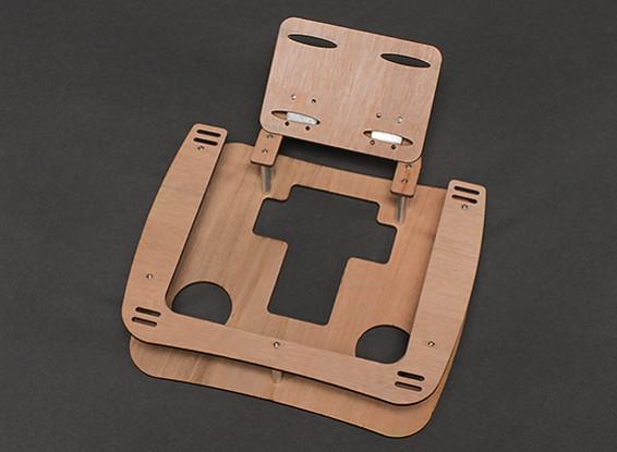 Bandeja transmisor de madera w / correa para el cuello (Gran para FPV)