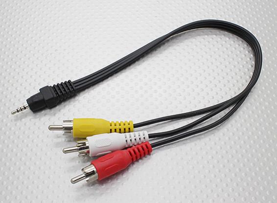 2,5 mm estéreo macho a RCA A / V Plomo Enchufes adaptador (300 mm)