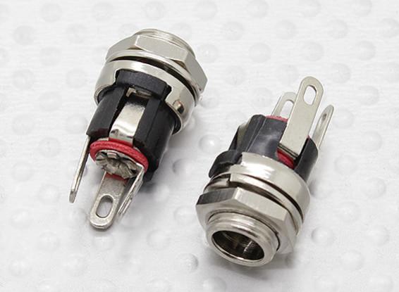 2,1 mm - 5,5 mm DC Chasis Gato del zócalo (2 piezas)