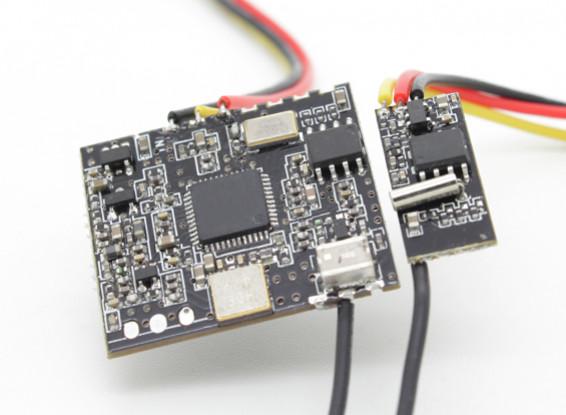 Transmisor video 100 mW 1,2 GHz y el receptor Combo