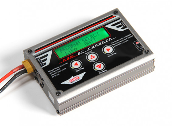 Cargador del balance de Turnigy Dlux DC 80W 10A 6S / descargador con Accesorios