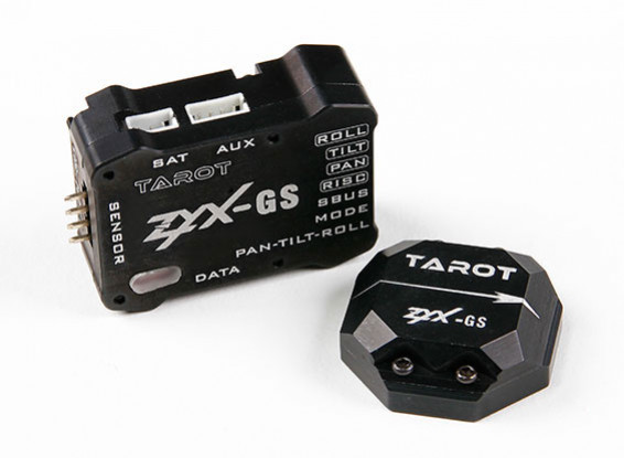 Gimbal sistema de estabilización de 3 ejes Gyro / Acelerómetro Cámara de Tarot ZYX-GS