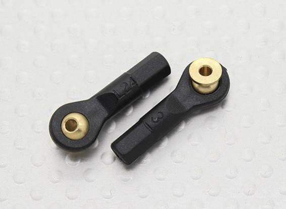 Stand-off juntas de rótula D4.8 × 2 × L24mm × 2 - 2pcs