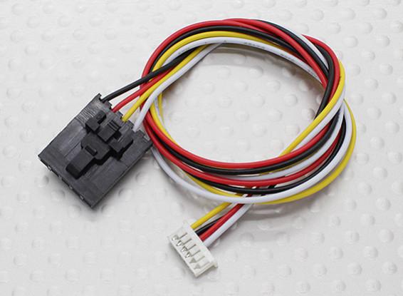 300 mm 5 Pin Molex / JR a 6 pines de conexión del cable blanco