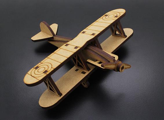Biplano de corte del laser Modelo de madera (KIT)
