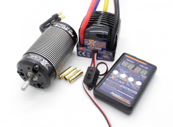 Sistema Hobbyking X-coche sin cepillo 2150KV Potencia / 150A